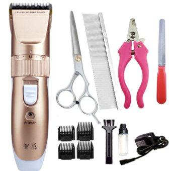 Harga Good Service Pet Dog Cat Electric Clipper Animal Electric Hair Trimmer Clipper Pet Cut Sets-Gold