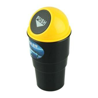 Harga NEW car garbage can Car Trash Can Garbage Dust Case Holder Bin Yellow
