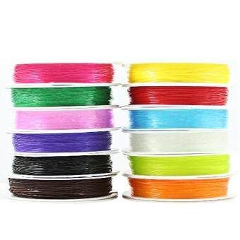 Harga 12 Colors Stretch Beading Cords Thread String for DIY Jewelry Bracelet Making 0.8mm Diameter 10m Length