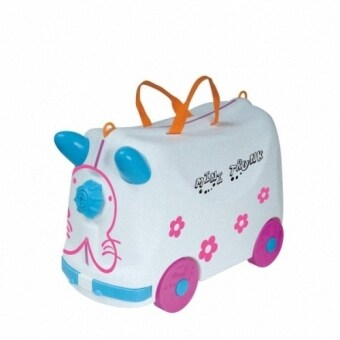 Harga Roll and Play Mini Trunk Kid's Toys Luggage/Storage Box (White)