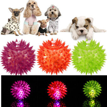 Harga Dog Puppy Cat Pet Hedgehog Ball Rubber Bell Sound Ball Fun Playing Toy