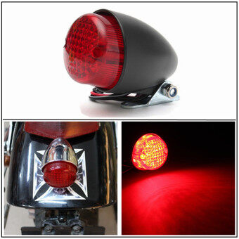 Harga Motorcycle LED Brake Stop Running Tail Light Cafe Racer Bobber Cruiser Chopper (Black)