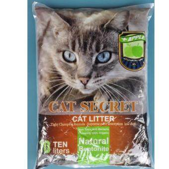 Harga CAT SECRET Natural Bentonite Cat Litter 10L ( APPLE ) x2