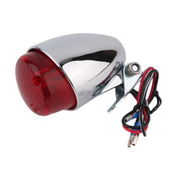 Harga ERA Motorcycle LED Brake Stop Running Tail Light Cafe For Racer Cruiser red& silver