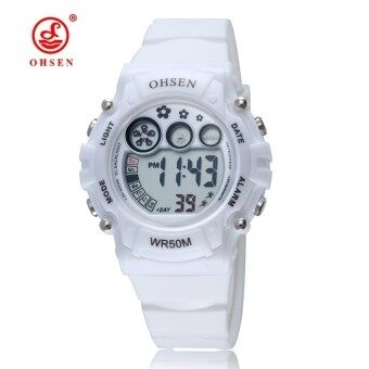 Harga OHSEN 1508 New Fashion Digital Watch For Kids Sport Casual Watches White