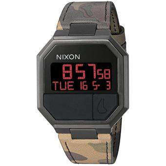 Harga Nixon Watch Re-Run Multicolored Stainless-Steel Case Leather Strap Mens NWT + Warranty A9442255