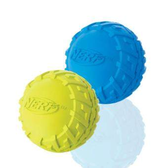Harga Nerf Dog Tire Squeak Ball Dog Toy, Green/Blue, Small