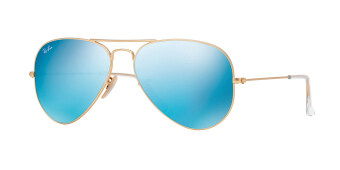 Harga RAY-BAN AVIATOR LARGE METAL CRY.GREEN MIRROR MULTIL.BLUE Lenses RB3025 112/17 MAN SUNGLASS