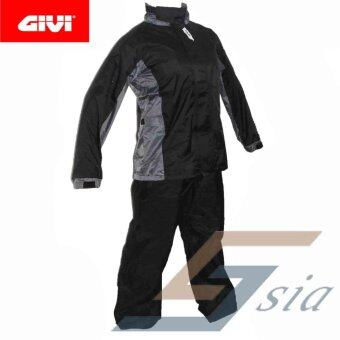 Harga GIVI RRS07 Rider Tech Rainsuit (Black Grey)