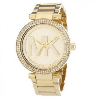 Harga Michael Kors Womens MK5784 Parker Gold-Tone Stainless Steel Watch
