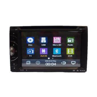 Harga Universal 6.2 Inch 2Din In-Dash Car DVD/CD/MP3/BT/VCD/USB Player - (HT-6219)