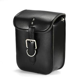 Harga Black Leather Swingarm Single Side Pannier Saddle Bag Cruiser ATV Harley Davidson Sportster