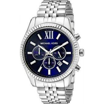 Harga GPL/ Michael Kors Mens Lexington Silver-Tone Watch MK8280/ship from USA