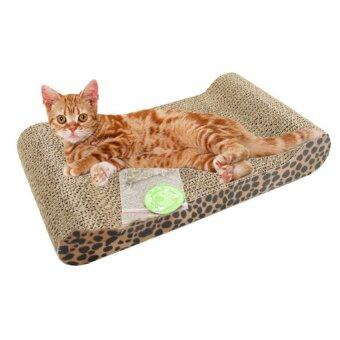 Harga Cat Kitten Corrugated Scratch Board Pad Scratcher Bed Mat ClawsCare Interactive Toy For Pet Cat Training Cat Toy