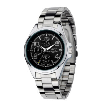 Harga NARY 6050 Men's Classical Stainless Steel Band Quartz Watch (black)