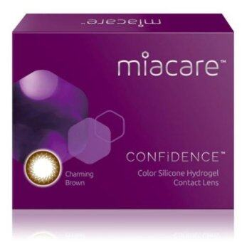 Harga Miacare CONFIDENCE Monthly Charming Brown Color Contact Lens (-2.00)