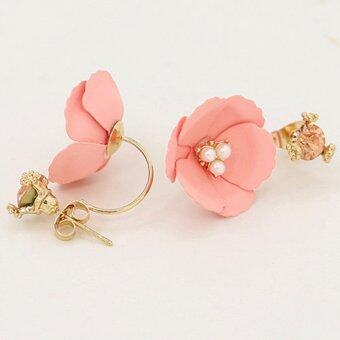 Harga Jo.In New Women Fashion Elegant Flower Crystal Rhinestone Ear Stud Earrings