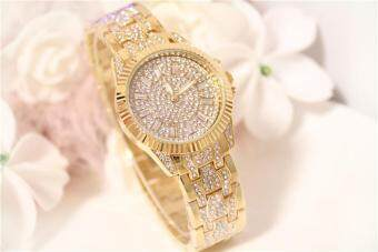 Harga Female Bracelet Watch Women Ladies Quartz Wrist Watches Bling Crystal Analog Clock