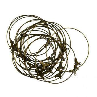 Harga MagiDeal 20pcs Beading Hoop Loop Earring Ear Wire Jewelry Making Findings DIY Bronze