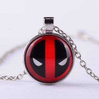 Harga Deadpool Character Gem Stone Pendant Marvel Necklace New