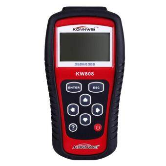 Harga New KW808 Car Diagnostic Scanner Code Reader CAN OBD2 EOBD Scan Tool Red