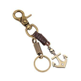 Harga Skull Anchor Keychain Pendant Punk Key Chain Ring Holder Jewelry