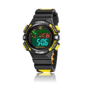 Harga OHSEN Boys Kids Children Digital Sport Watch Alarm Date Chronograph Watches LED Back Light Waterproof Wristwatches Student Clock