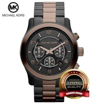 Harga Michael Kors MK8266 Runway Oversized Two Tone Chronograph Unisex Watch