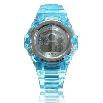 Harga OHSEN Lovely Waterproof Digital Alarm Sport Wrist Watch For Kids Child Boy Girl