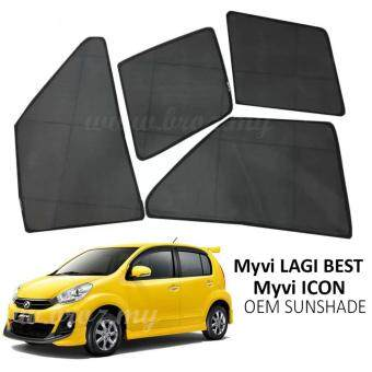 Harga Custom Fit OEM Sunshades/ Sun shades for Perodua Myvi Lagi Best / Myvi Icon (4PCS)
