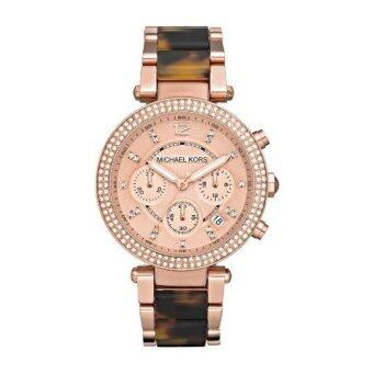 Harga Michael Kors MK5538 Parker Chronograph Rose Gold Tortoise Women's Watch
