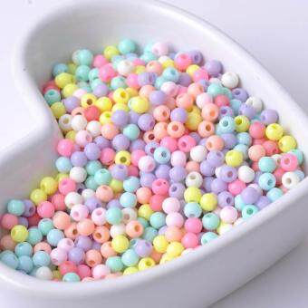 Harga 4mm 1000pcs Mixed Candy Color Acrylic Round Seed Beads Fit Jewelry Making DIY