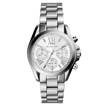 Harga Michael Kors MK6174 Women's Silver-Tone Quartz Mini Bradshaw Watch