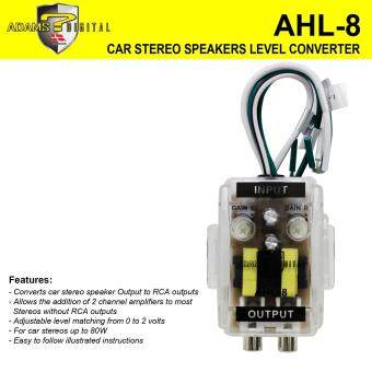 Harga ADAM DIGITAL AHL-8 Level Car Speaker High to Low Converter Adapter 2 Channel Line Out