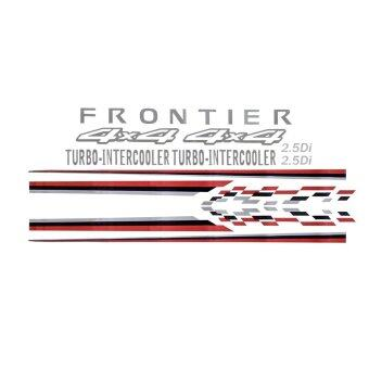Harga Nissan Frontier Car Body Sticker Decorative OEM Style Decal Vinyl Lining (Red and Black)