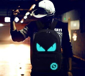 Harga FASHION NOCTILUCENT BACKPACK GLOW IN THE DARK NOTEBOOK BAG B184 MONSTER EYE