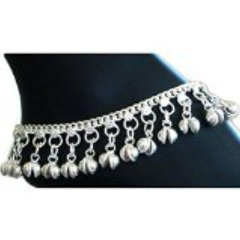 Harga Indian Traditional Belly Dance Ghungroo Anklet with Jingling Bells-Toned