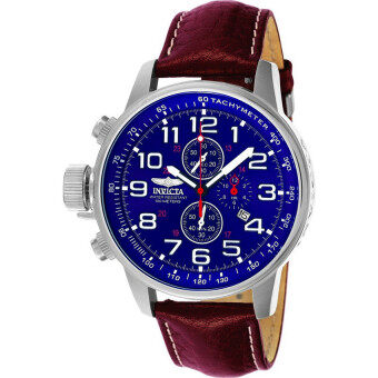 Harga Invicta I-Force 3328 Men 46mm Brown Leather Blue dial YM92A Quartz
