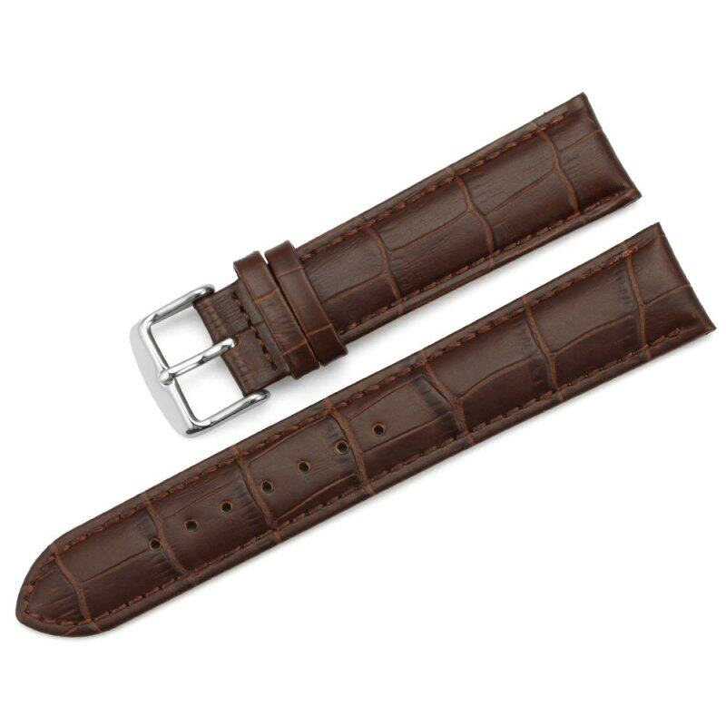 iStrap 19mm Replacement Calf Leather Strap Crocodile Grain Watch Band Accessories - Brown Malaysia