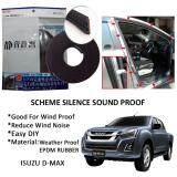 Isuzu D-max SCHEME SILENCE (Double D) DIY Air Tight Slim Rubber Seal Stripe Sound & Wind Proof & Sound Proof for Car (4 Doors)