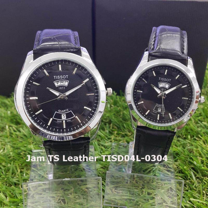Jam Couple TS Leather Day Date SILVER Case TISD04L Malaysia