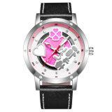 ราคา Japan Young Man S Double Hollow Movement Leather Belt Organic Glass Quartz Gift Box Fashion Watch Color Main Pic