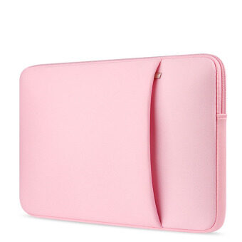 Jiaing 14 inches Colorful Laptop Case Protective Carring SleeveCover Waterproof Notebook Bag Waterproof Briecase for MacBookAir,Lenovo,HP,Samsung,Xiaomi,Acer (Pink)