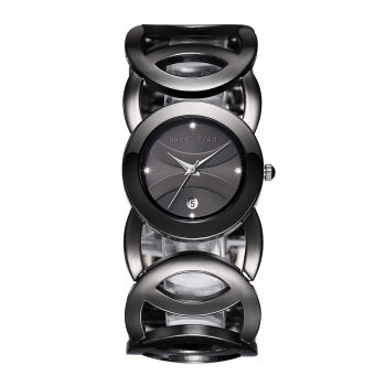 JIANGYUYAN Stylish Classic Bracelet Watch for Fashion Ladies(Black)