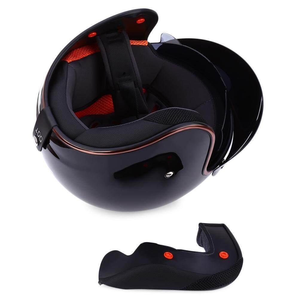 Jiekai Universal Helm Sepeda Motor Open Wajah Dingin Perlindungan Aman Berkuda Skuter Headpiece .