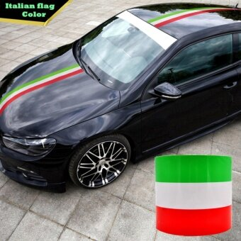 Harga JinGle 1 M Colored Italy Flag Striped Vinyl Car Sticker Decal BodyFor Car