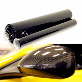 JinGle 5D Auto Vinyl Film Sheets Car Sticker Carbon Fiber MembraneHigh Glossy 20*152cm