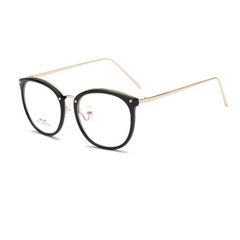 JINQIANGUI Fashion Glasses Frame Vintage Retro Round Glasses BlackFrame Glasses Titanium Frames Plain for Myopia Women EyeglassesOptical Frame Glasses