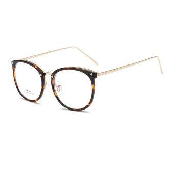 JINQIANGUI Fashion Glasses Frame Vintage Retro Round Glasses BrownFrame Glasses Titanium Frames Plain for Myopia Women EyeglassesOptical Frame Glasses