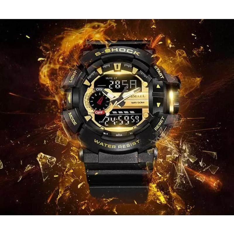 JOOX SMAEL Fashion Watch Men G Style Waterproof LED Sports Military Watches Shock Mens Analog Quartz Digital Watch Malaysia